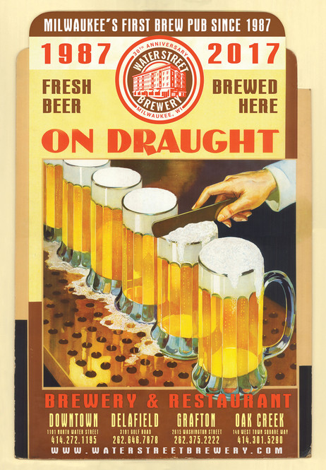 Waterstreet Brewery On Draught beer poster