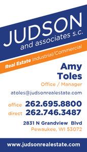 Judson and Associates business card idea