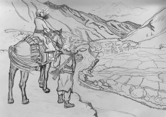 Valley drawing