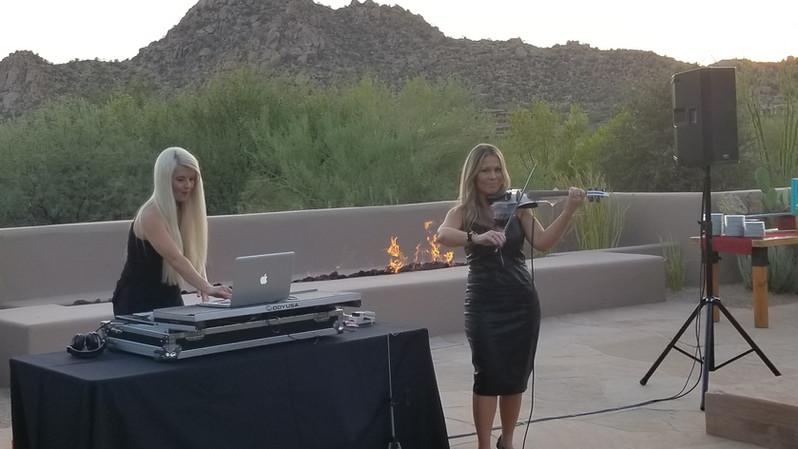 DJ and Violin at the Four Seasons