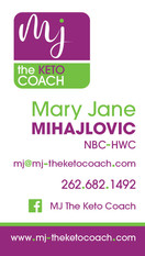 MJ Keto business card front