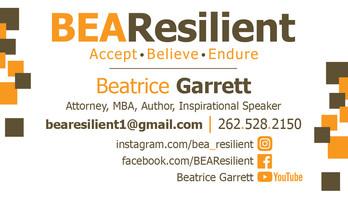 BeaResilient business card