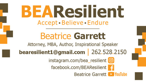 BeaResilient business card