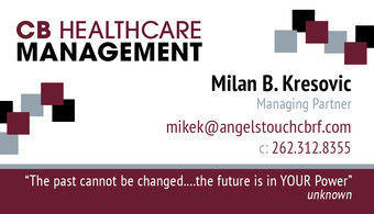 CB HealthCare Management business card idea