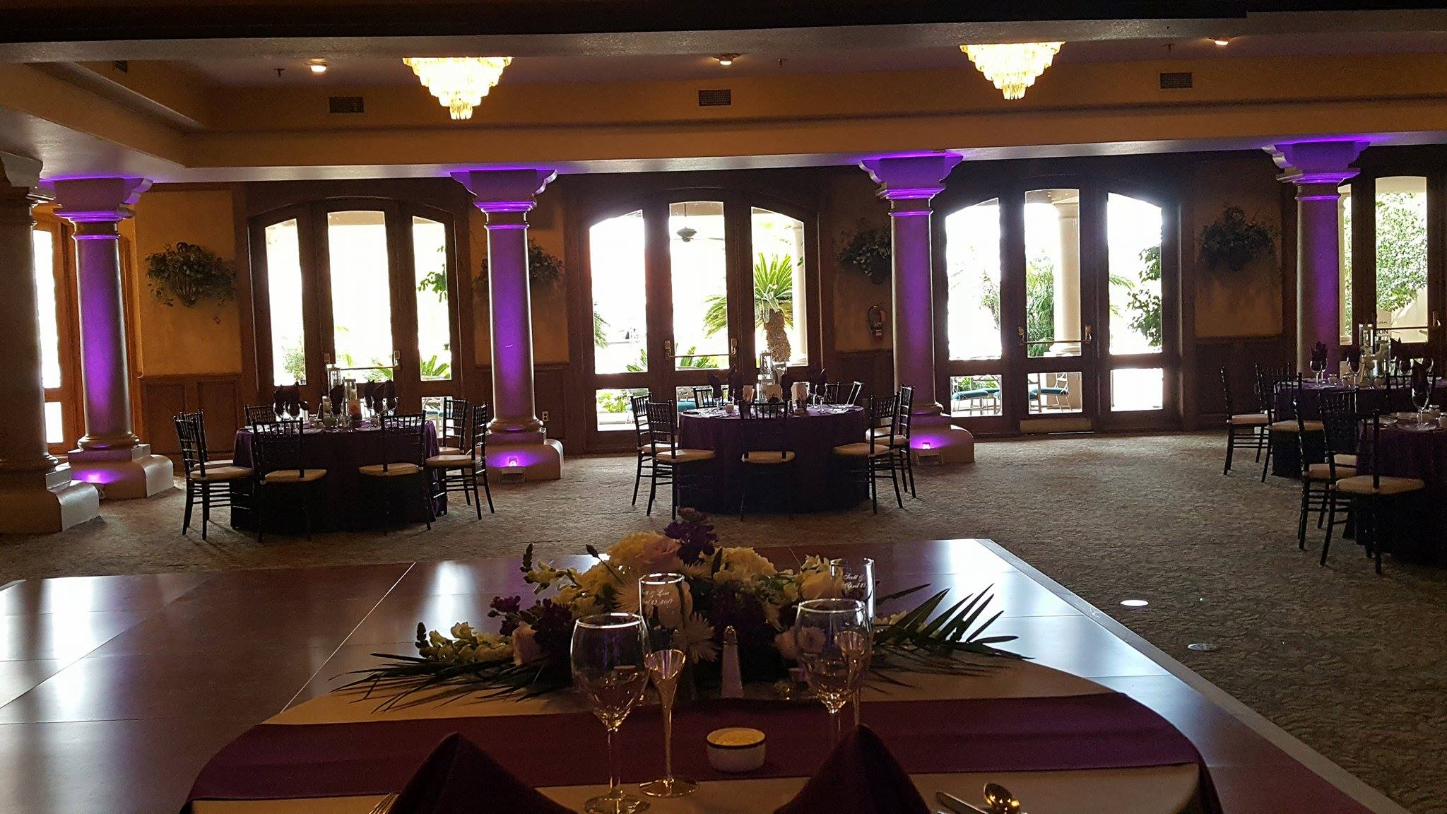 Uplighting Val Vista Lakes wedding