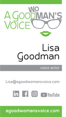 A Good Womans Voice business card front