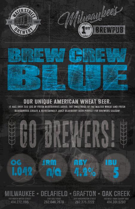 Brew Crew Blue beer poster