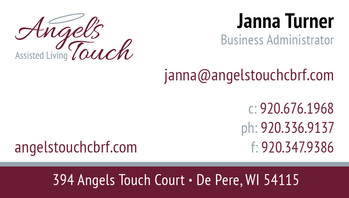 Angels Touch business card