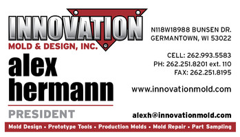 Innovation Mold and Design business card
