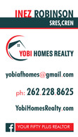 Yobi Homes business card