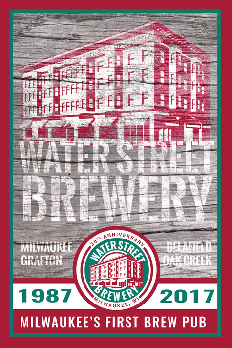 Waterstreet Brewery 30 year poster