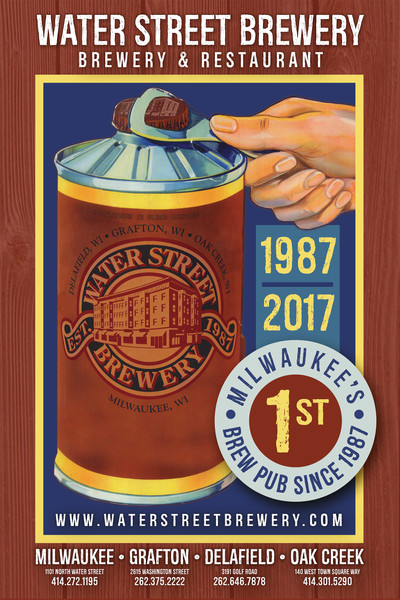Waterstreet Brewery Oil Can beer poster