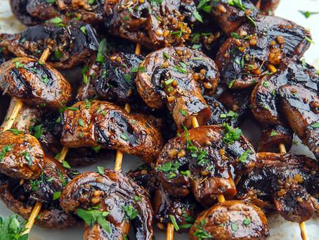 Grilled Balsamic Mushroom Skewers