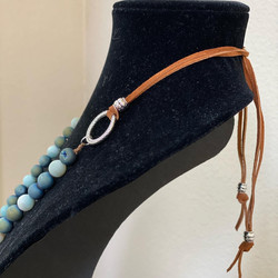Adjustable matte Agate beads