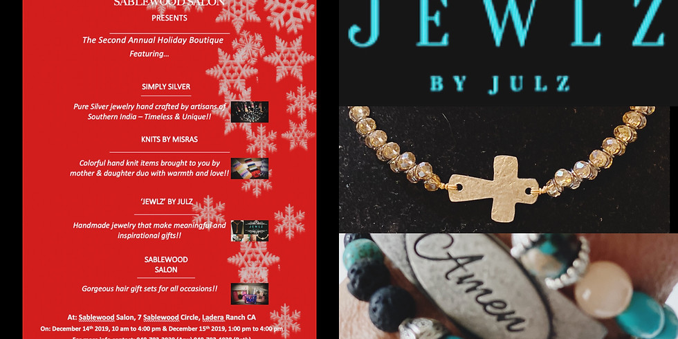 2nd Annual Holiday Boutique at Sablewood Salon
