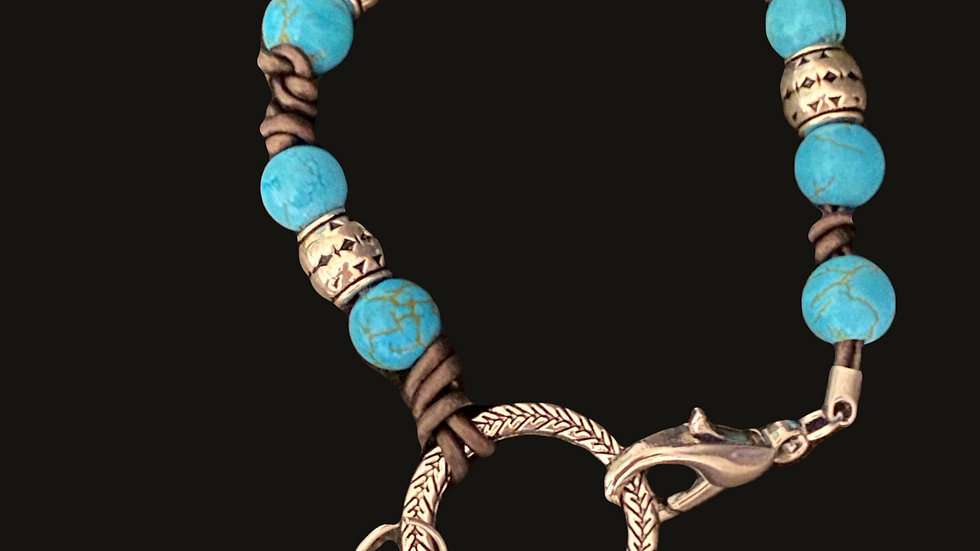Lobster Clasp and Ring Bracelet