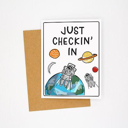 checkin' in card