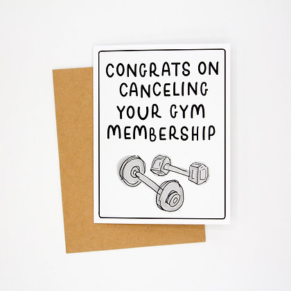 cancel the gym card