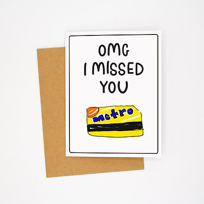 missed you card