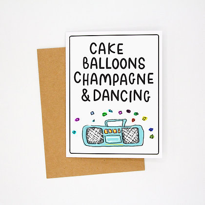cake & champs card