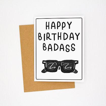 happy birthday badass card
