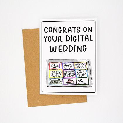 digital wedding card