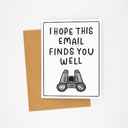 finds you well card