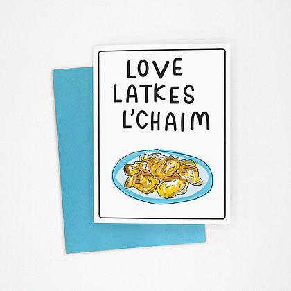 love latkes l'chaim card