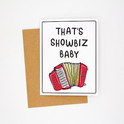showbiz card