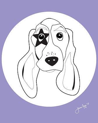 basset hound print