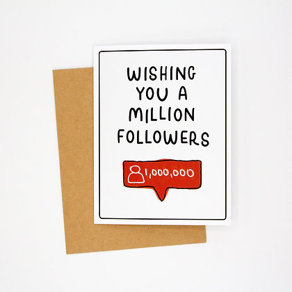 wishing you followers card