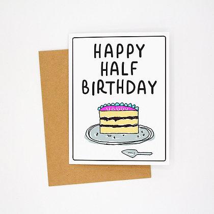happy half bday card