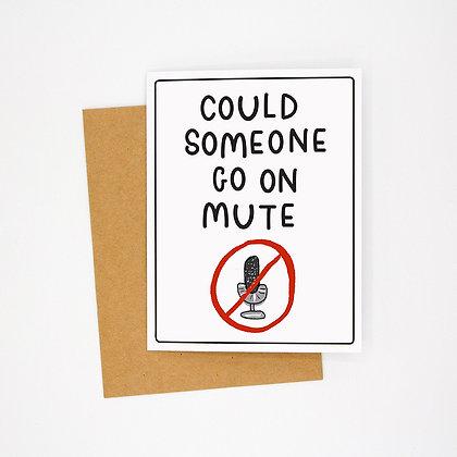 mute card