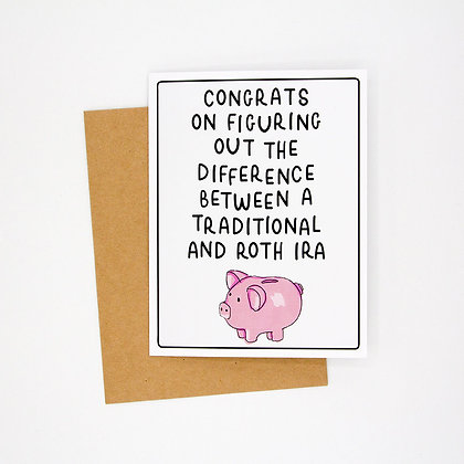 congrats on your IRA card