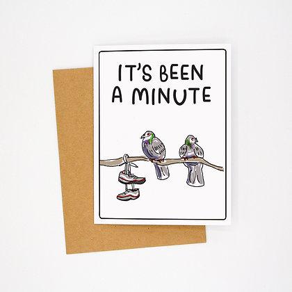 a minute card