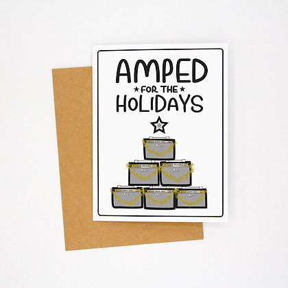 amped for the holidays card