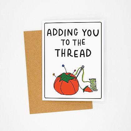 the thread card