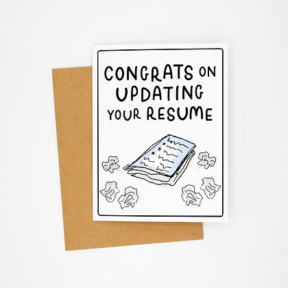 congrats on your resume card