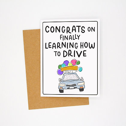 learn to drive card