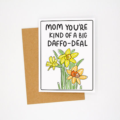 mom daffodil card