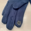Thumbnail: Green Faux Suede Fur Trimmed Gloves With Diamantes