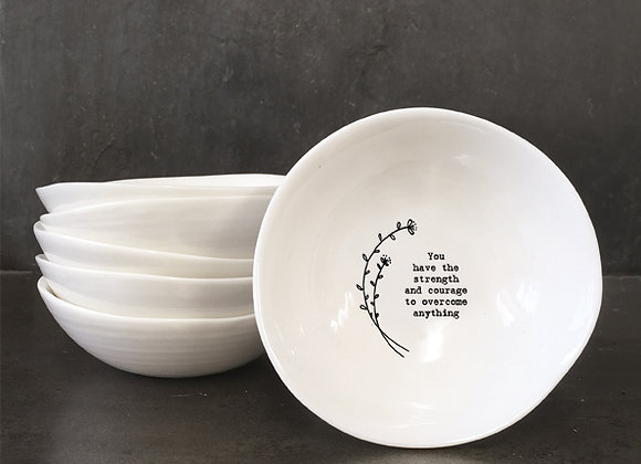 East Of India Medium Bowl Strength And Courage