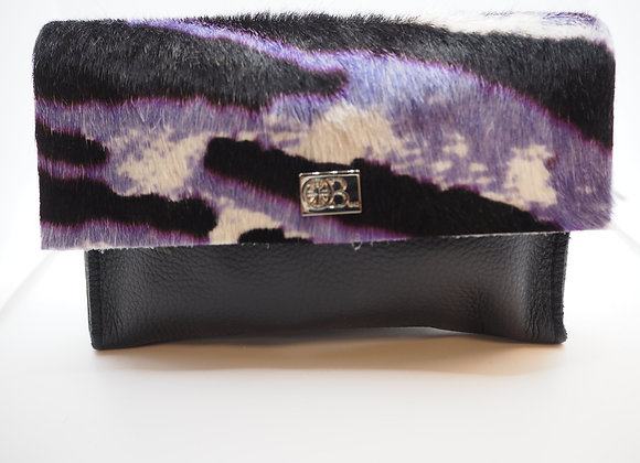 Owen Barry Small Black Leather And Cowhide Purse