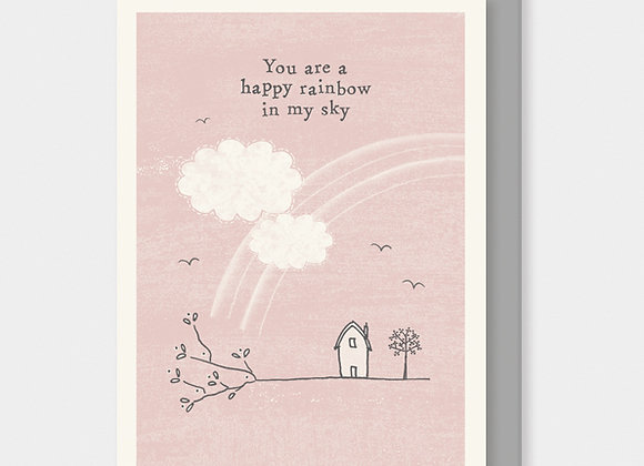 East Of India Twig Card You Are A Rainbow