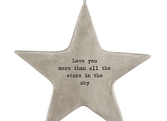 East Of India Love You More Hanging Star