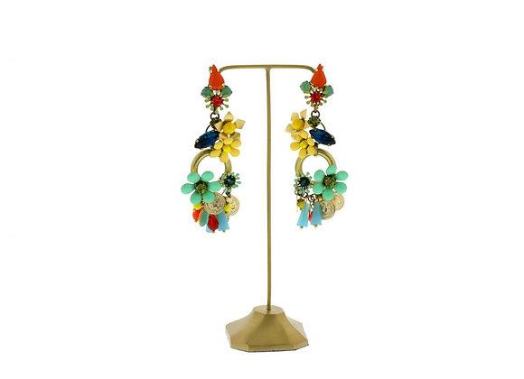 Bohemian Multi Coloured Earrings