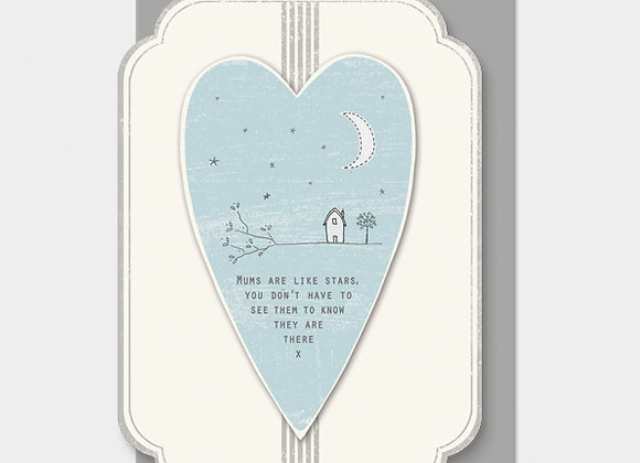 East Of India Heart Card Mums Are Like Stars