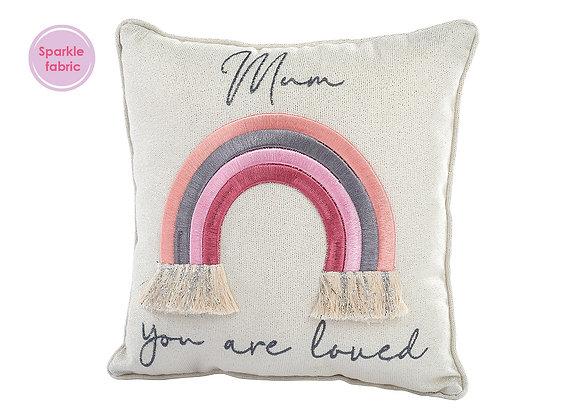 Rainbow Mum Cushion