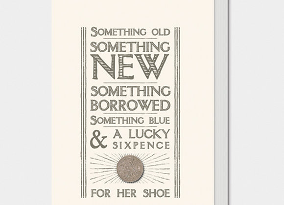 East Of India Lucky Sixpence In Her Shoe Card