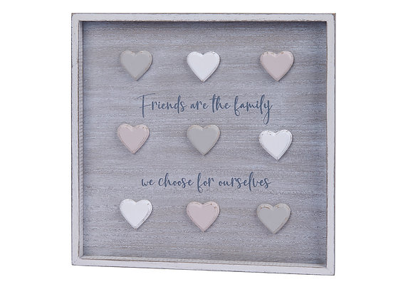 Friends Are Family Plaque